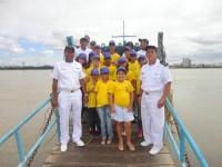 Militares apresentam as atividades da Marinha aos escoteiros