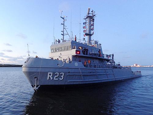 """Base Naval de Natal encerra Período de Manutenção Geral do Rebocador de Alto Mar """"Triunfo"""""""