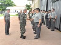 Honras de recepção ao Comandante Militar do Oeste, Gen Ex Ferreira