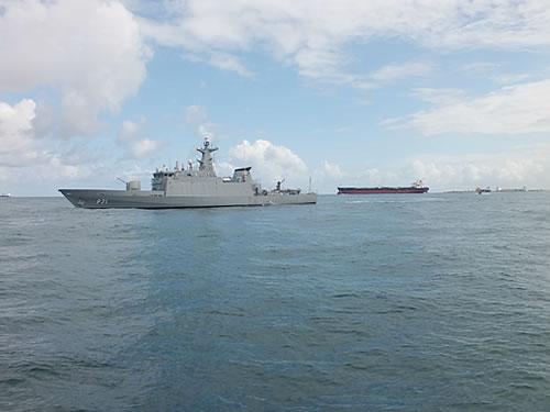 """Navio-Patrulha """"Macau"""" participa da segurança da área marítima no Porto de Suape (PE)"""