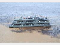 Navio no Encontro das Águas dos Rios Negro e Solimões