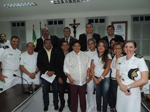"""Sessão Solene homenageia a vencedora distrital da Operação """"Cisne Branco 2013"""" em Ceará-Mirim (RN)"""