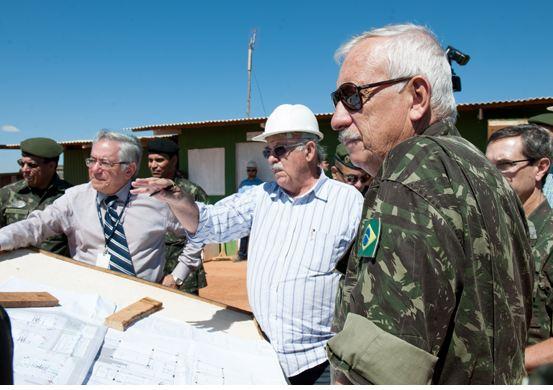 Chefe do DEC visita obras no Forte Santa Bárbara