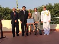 Autoridades durante a cerimônia de inauguração