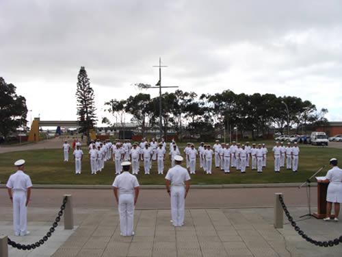Cerimônia de encerramento do curso