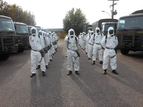 Militares da área do Com5ºDN participam de Curso de Defesa NBQR