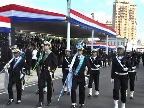 Marinha do Brasil participa das comemorações ao dia da Independência do Paraguai