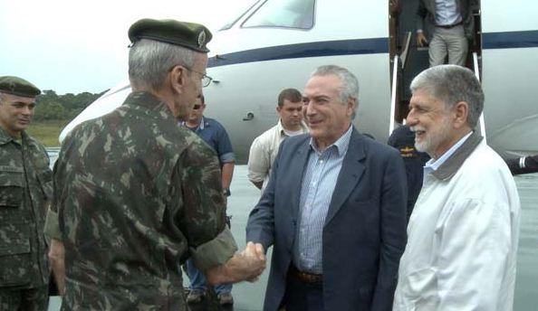 Vice-presidente da República visita as atividades da Operação Ágata 8