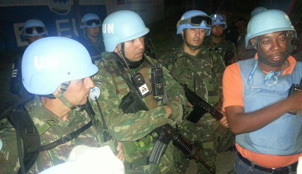 Primeira Operação Integrada do BRABAT 20 em Porto Príncipe