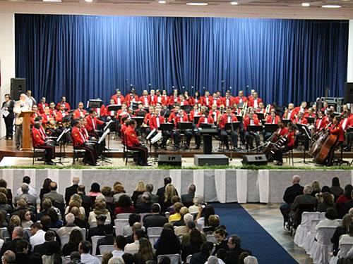 Apresentação da Banda Sinfônica do Corpo de Fuzileiros Navais em São Paulo e Santos