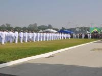 Militares durante a cerimônia