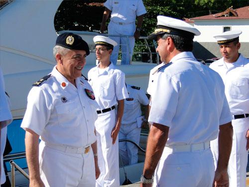 Diretoria de Hidrografia e Navegação recebe a visita do Comandante da Marinha do Líbano