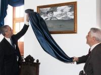 Descerramento do quadro em homenagem ao Patrão-Mor Aguiar