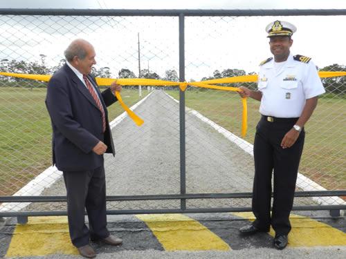 Inauguração da Nova Cercadura do Posto de Transmissão da Estação Rádio da Marinha em Brasília