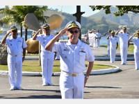 Alte Esq Guerra durante cerimônia alusiva ao aniversário do ComOpNav e da DGN