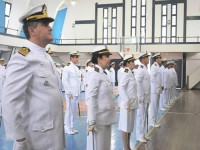 Militares agraciados com medalhas durante a Cerimônia