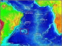 Elevação do Rio Grande (destaque em vermelho)