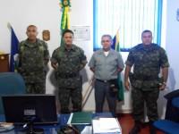 Comitiva do Exército Brasileiro com o Agente Fluvial de Cáceres