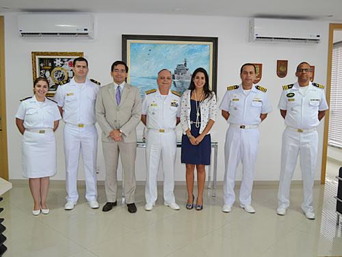 Comando do 9º Distrito Naval recebe membros do Ministério Público Federal do Amazonas