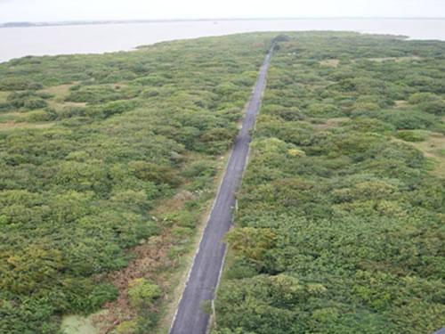 Estação Radiogoniométrica da Marinha no Rio Grande conclui obra de pavimentação de via interna