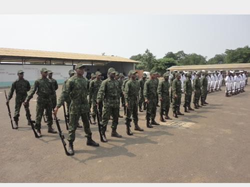 Marinha do Brasil inicia formação de fuzileiros navais de São Tomé e Príncipe