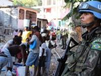 Militares brasileiros atuam na liberacao de area