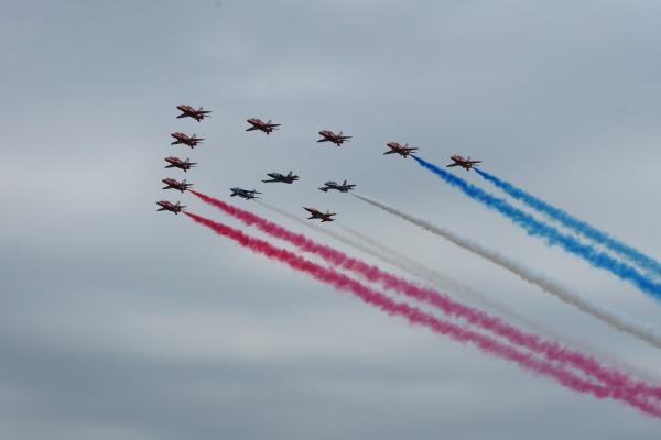 Pilotos da Esquadrilha participam de feira da aviação militar na Inglaterra