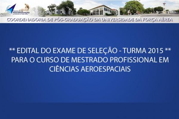 Inscrições abertas para mestrado da Universidade da Força Aérea