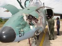 Danos em aeronave Militar depois de colisão com ave