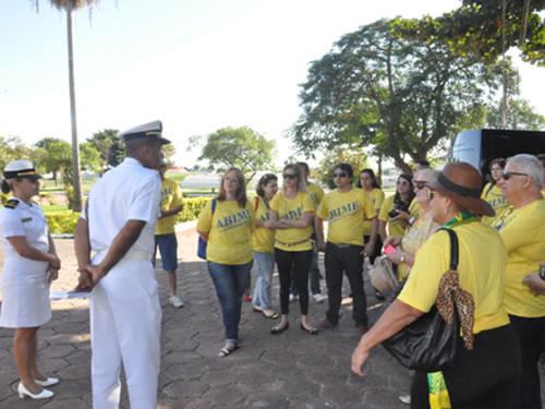 Comando do 6° Distrito Naval recebe visita da Associação Brasileira de Imprensa de Mídia Eletrônica