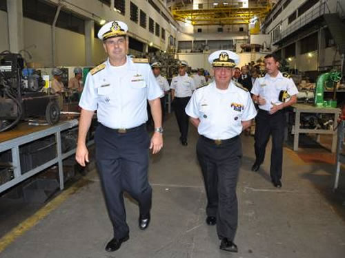 Arsenal de Marinha do Rio de Janeiro recebe visita do Diretor-Geral de Logística da Armada do Equador