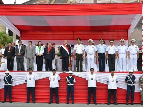 Comandante do 9° Distrito Naval participa da Celebração dos 193º anos da Independência do Peru