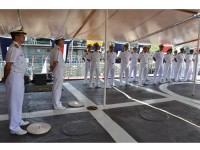 """Cerimônia a bordo do NPaFlu """"Raposo Tavares"""""""