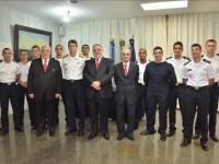 C Alte Campos, representantes do Banco Santander e Aspirantes