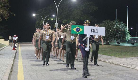 Abertura do 15º Campeonato Mundial Militar Feminino de Voleibol