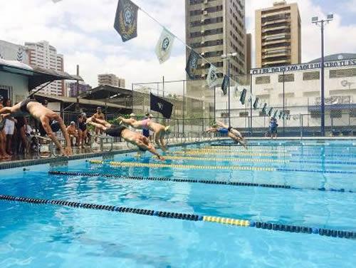 Alunos do Centro de Instrução Almirante Braz de Aguiar disputam campeonato de corrida e natação