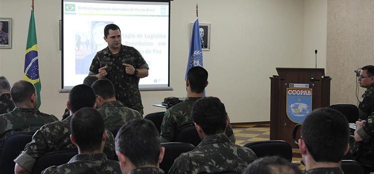 CCOPAB capacita 42 oficiais em logística e reembolso de operações de paz
