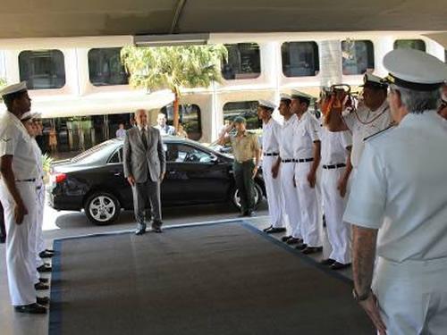 Comando do 7º Distrito Naval recebe a visita do Secretário-Geral do Ministério da Defesa