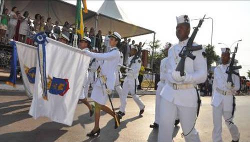 Marinha participa do desfile da Independência em Ladário, Corumbá, Campo Grande e Nioaque (MS)