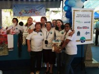 Voluntárias e pacientes do projeto Sassarico durante o Festival