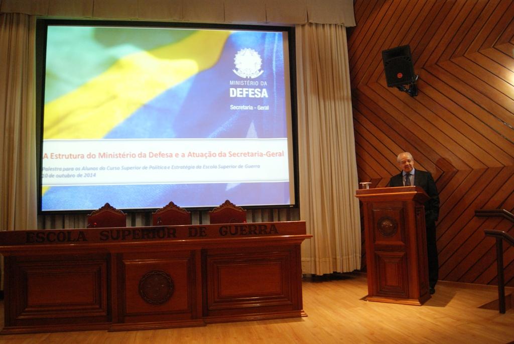 Palestra do Secretário Geral do Ministério da Defesa na Escola Superior de Guerra