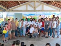 Voluntárias e integrantes do Centro Municipal de Educação Infantil Neusa Assad Malta