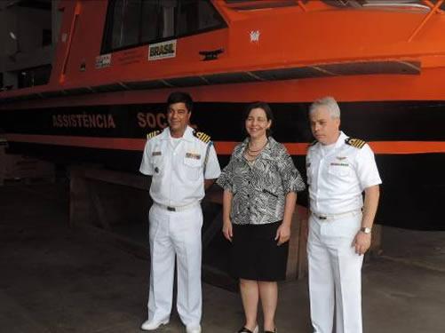 Base Naval de Val-de-Cães recebe a visita da Ministra do Desenvolvimento Social