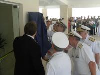 """Descerramento da placa de inauguração do Edifício """"Comandante Mariano de Azevedo"""""""