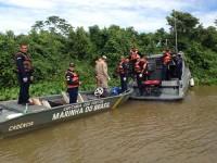 Embarcação da Capitania Fluvial do Pantanal empregada na busca