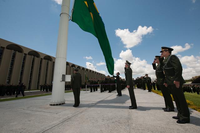 Solenidade em homenagem ao Dia da Bandeira no QGEx
