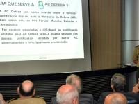 General Bráulio de Paula Machado explicou o funcionamento da Autoridade Certificadora de Defesa