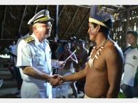 V Alte Savio entrega certificado a indígena
