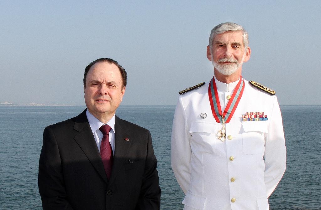 Embaixador Mario Vilalva e Almirante Macieira Fragoso, no Forte da Giribita, a 17 de junho de 2014