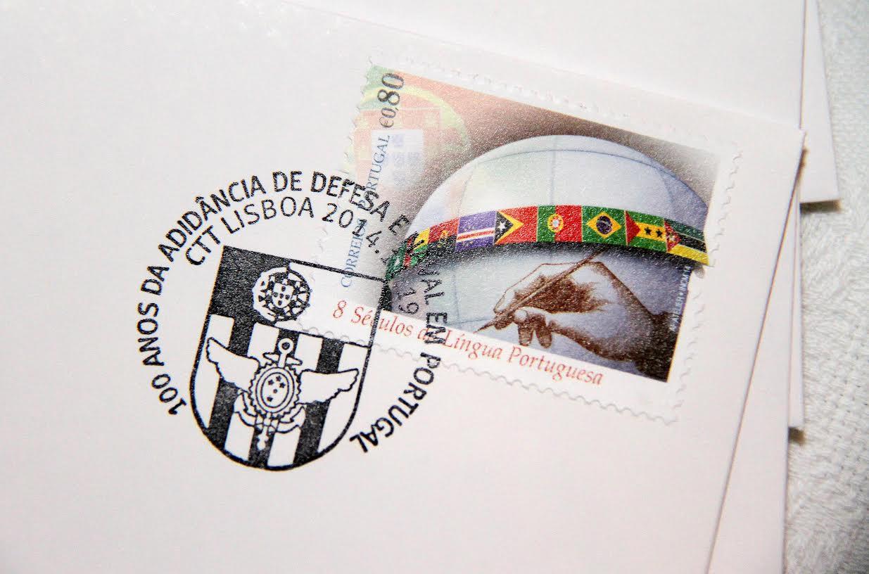 Carimbo Comemorativo do Centenário da Adidância de Defesa e Naval do Brasil em Portugal